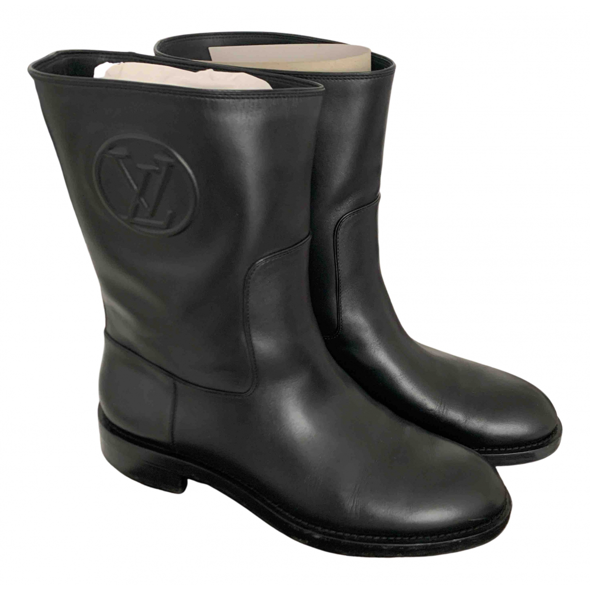 Louis Vuitton \N Stiefeletten in  Schwarz Leder