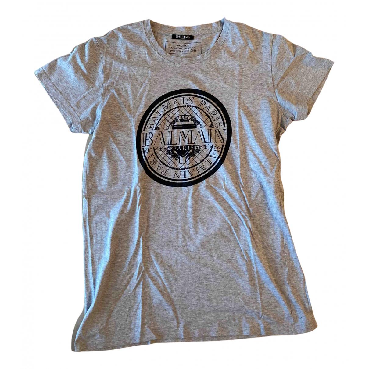 Balmain \N T-Shirts in  Grau Baumwolle