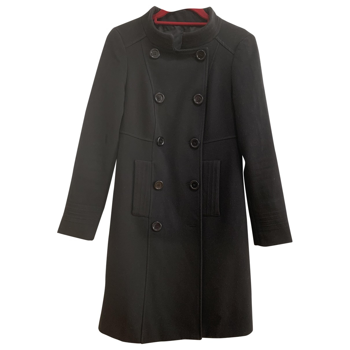 Non Signé / Unsigned \N Black Wool coat for Women S International