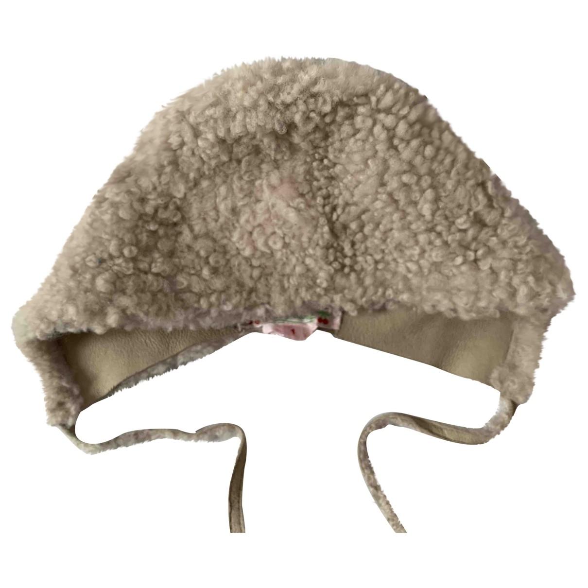 Bonpoint - Chapeaux.Bonnets.Gants   pour enfant en cuir - beige