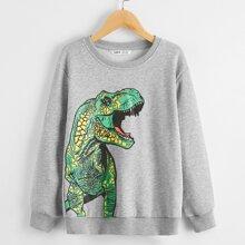 Boys Dinosaur Print Pullover