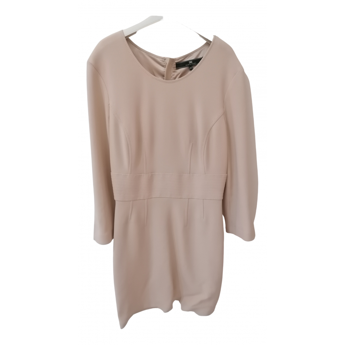 Elisabetta Franchi \N Beige Cotton - elasthane dress for Women 40 IT