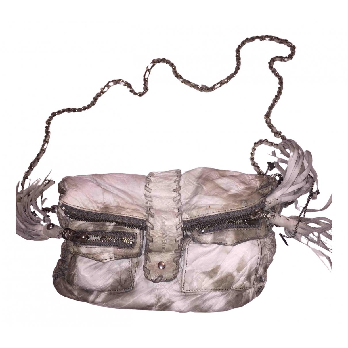Zadig & Voltaire Rock Handtasche in  Weiss Leder