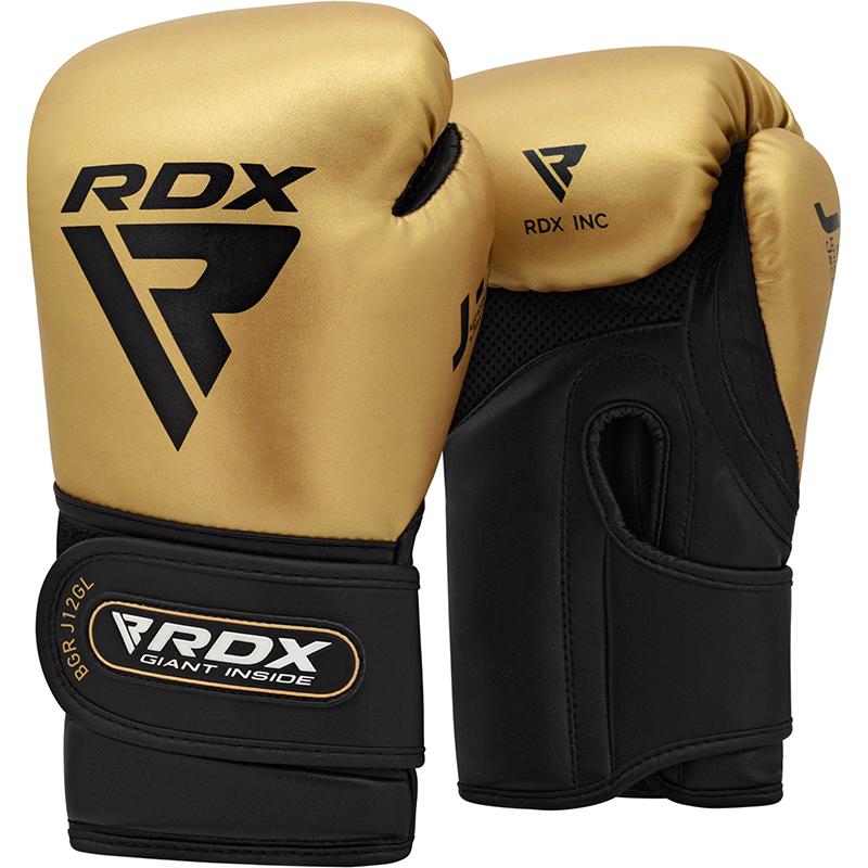 RDX J12 Gants de Boxe pour Enfants 6 oz dor Cuir PU