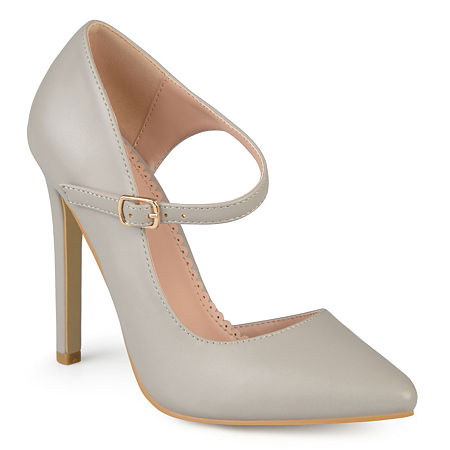 Journee Collection Womens Athea Pumps Stiletto Heel, 9 Medium, Gray