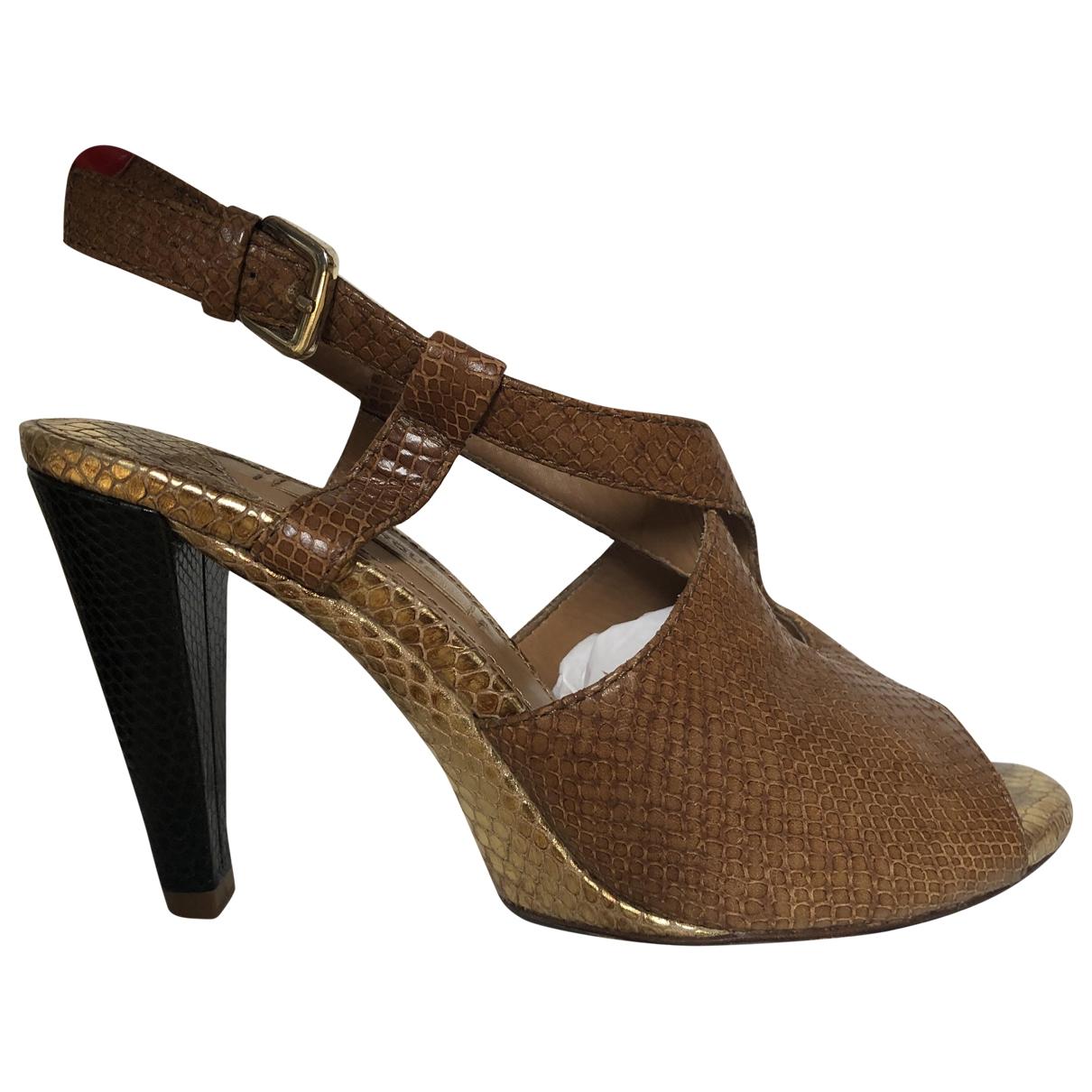 Uterque \N Sandalen in  Braun Wasserschlangen