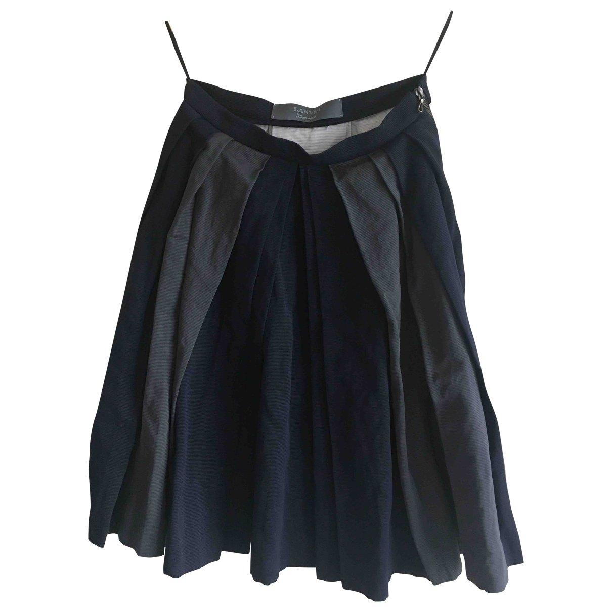 Lanvin - Jupe   pour femme en coton - marine