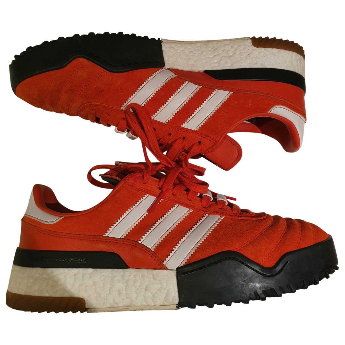 Adidas \N Red Leather Trainers for Men 11 US