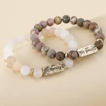 2 Stuecke Maenner Armband mit bunten Perlen