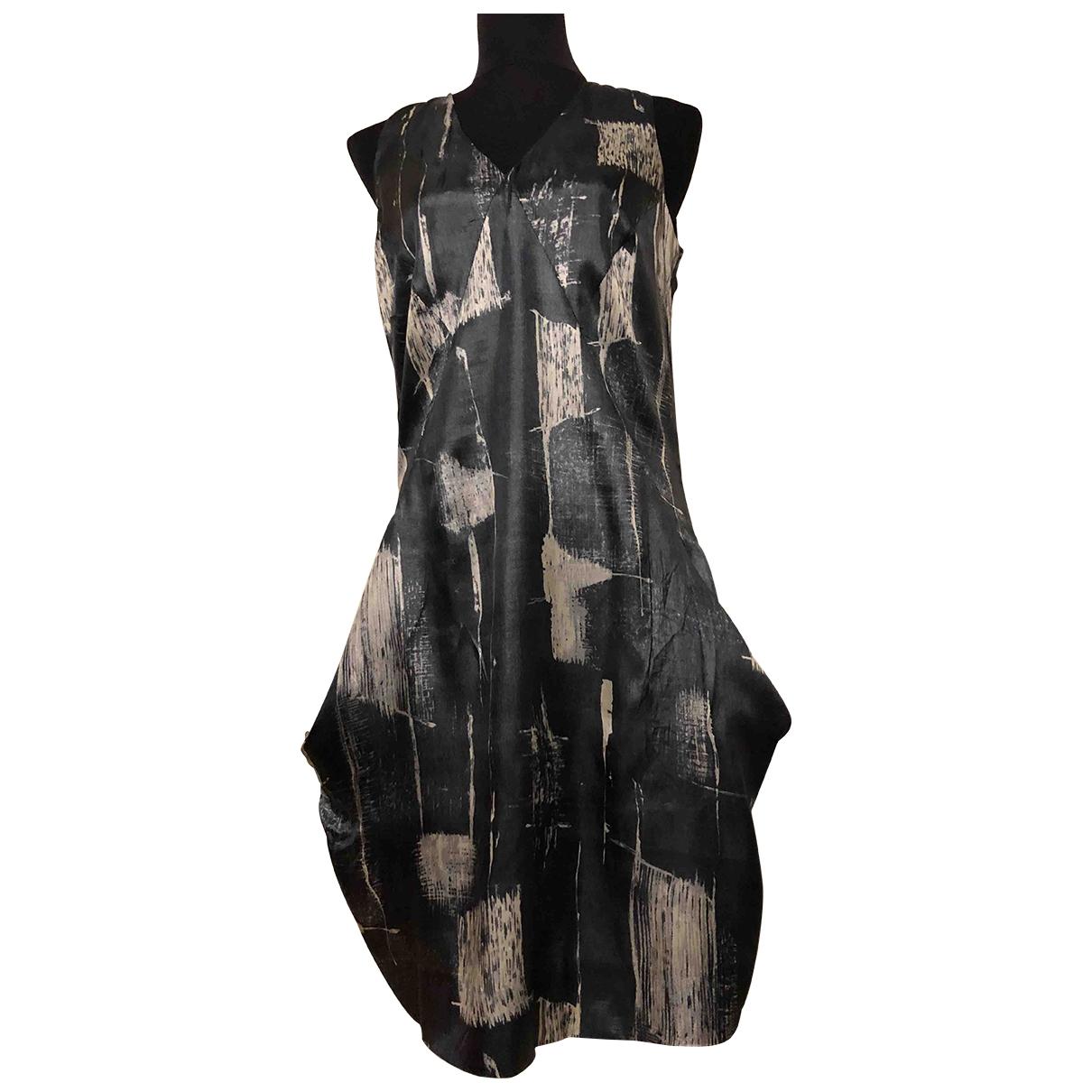 Calvin Klein - Robe   pour femme en soie - gris