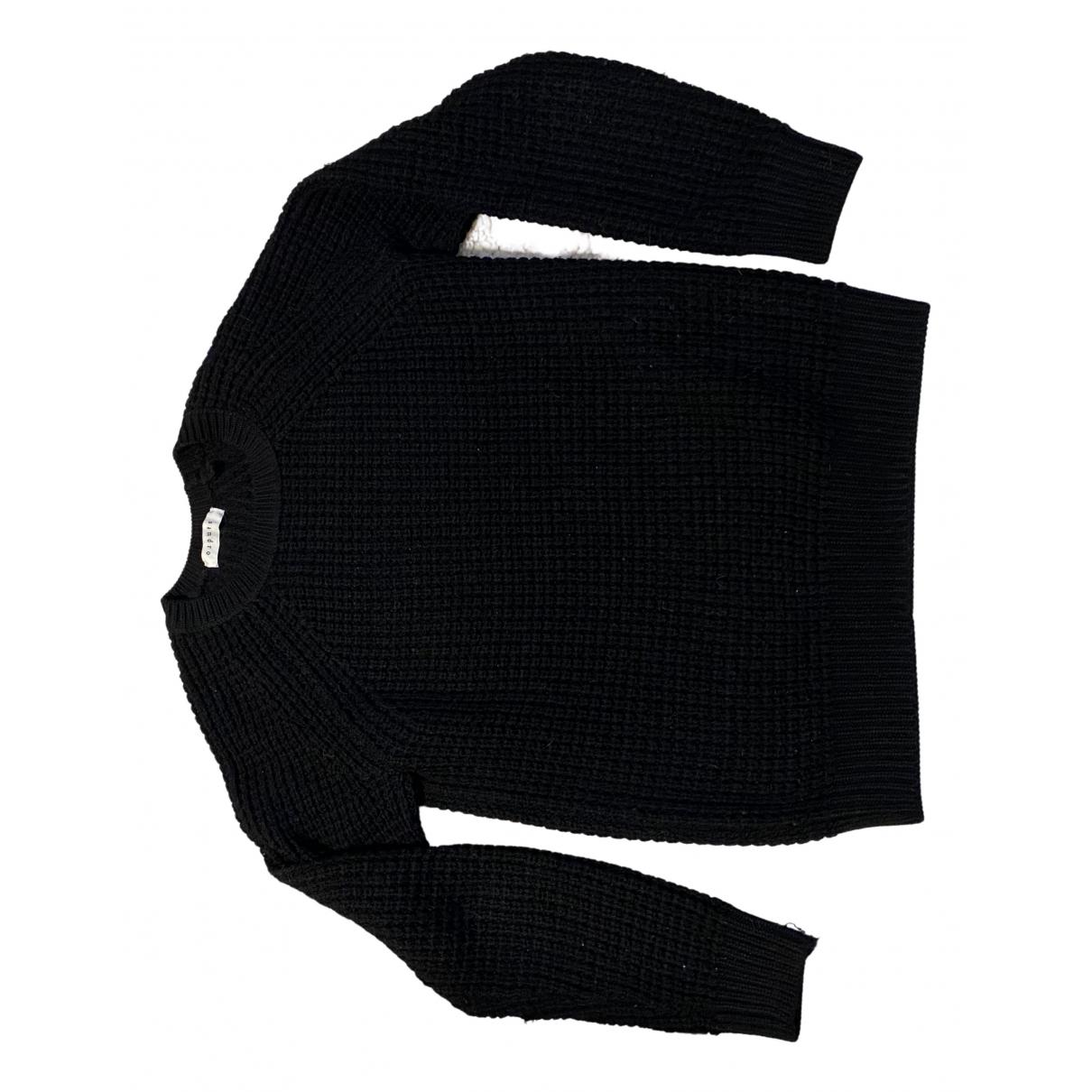Sandro \N Pullover.Westen.Sweatshirts  in  Schwarz Wolle