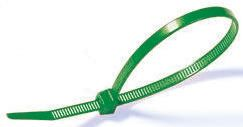 HellermannTyton , T80R Series Green Nylon Cable Tie, 210mm x 4.7 mm