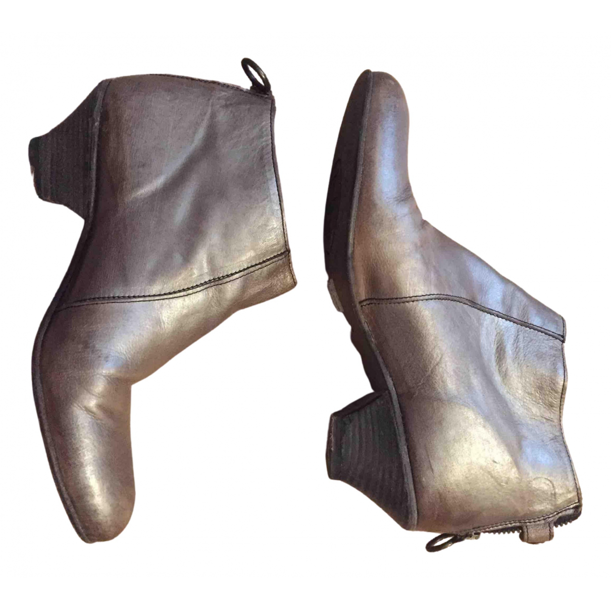 Fiorentini+baker \N Stiefel in  Metallic Leder