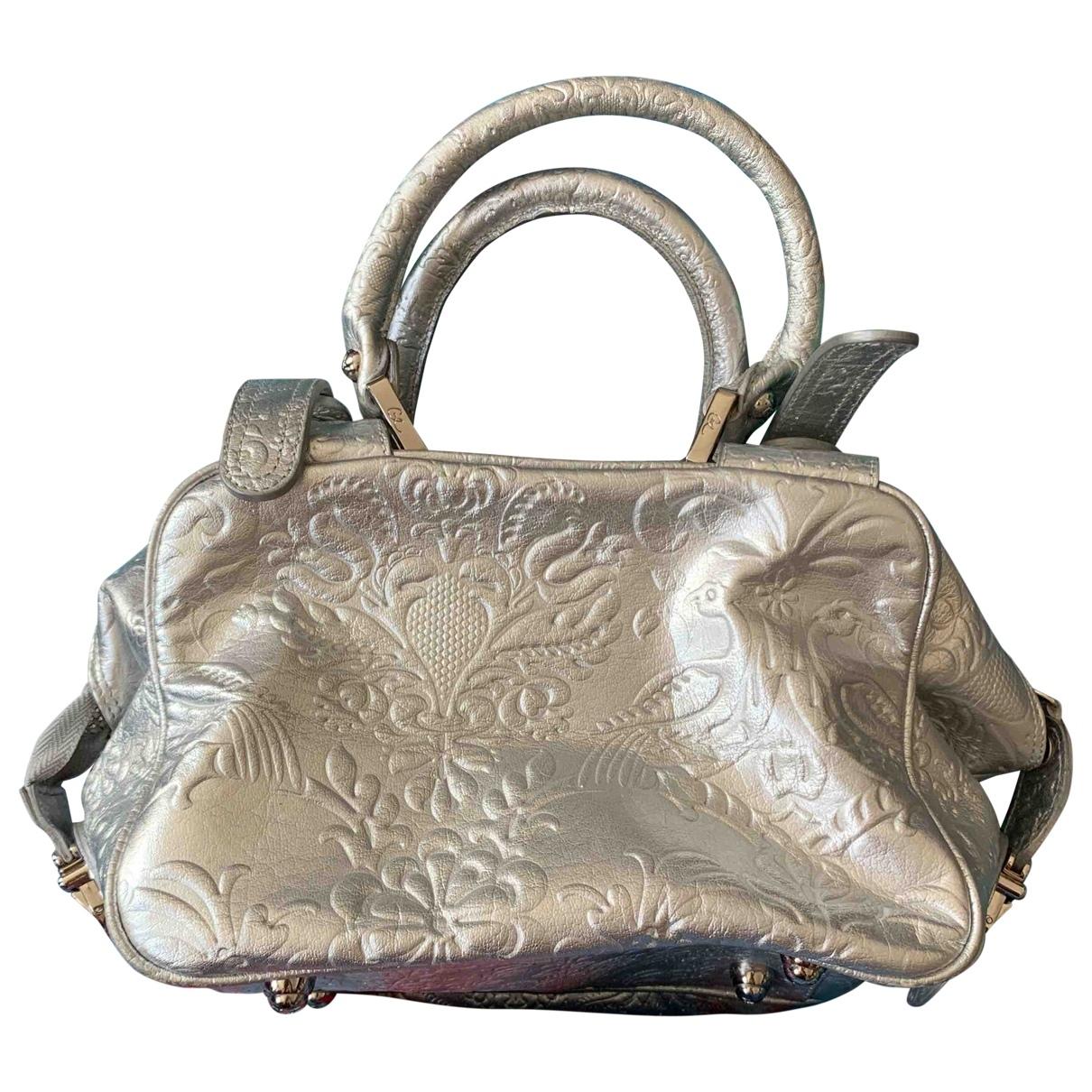 Christian Lacroix \N Handtasche in  Silber Leder