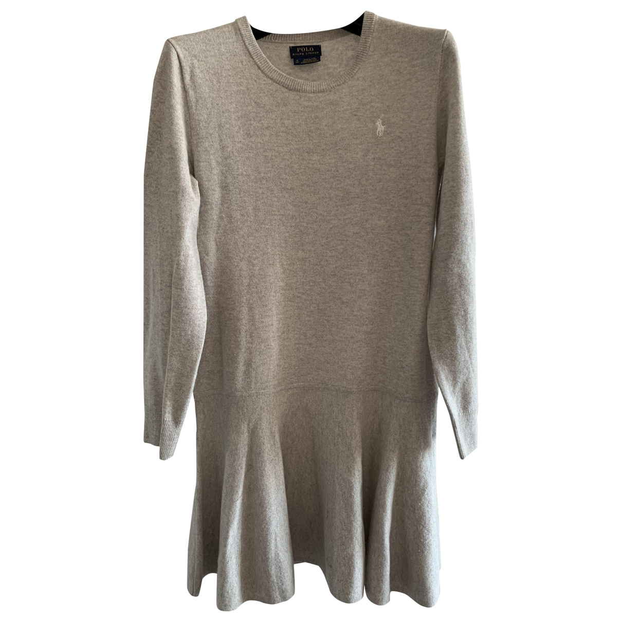 Polo Ralph Lauren \N Kleid in  Grau Wolle