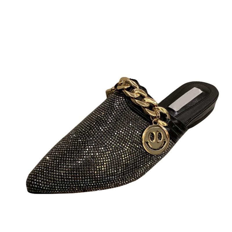 Ericdress Slip-On Rhinestone Closed Toe Casual Slippers