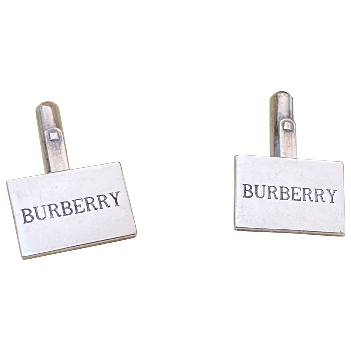Burberry - Boutons de manchette   pour homme en metal - metallise