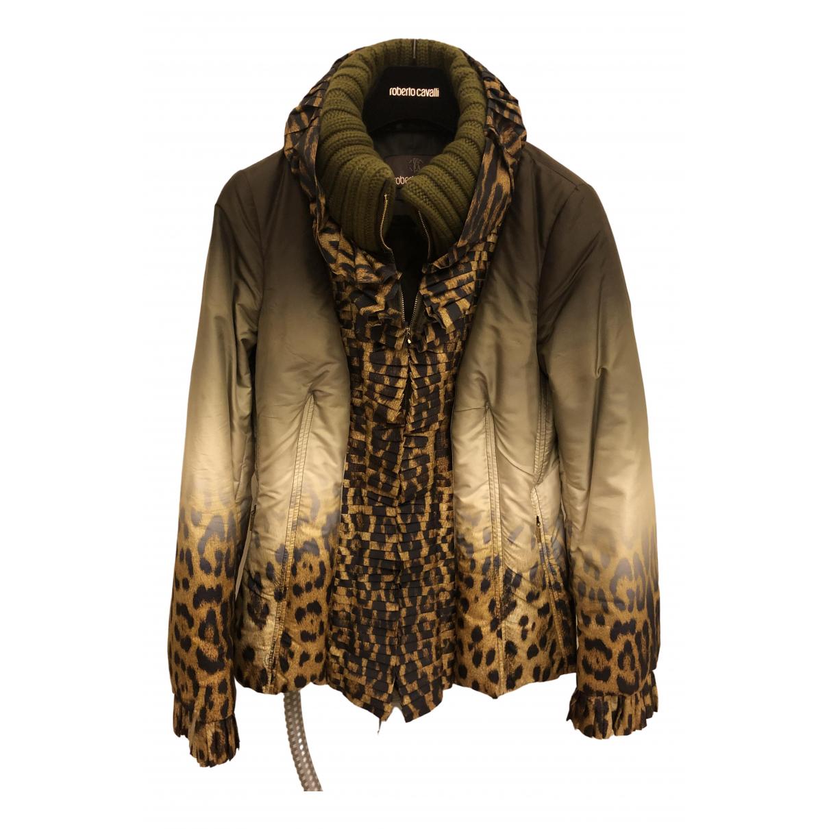 Roberto Cavalli \N Green Silk jacket for Women 42 IT