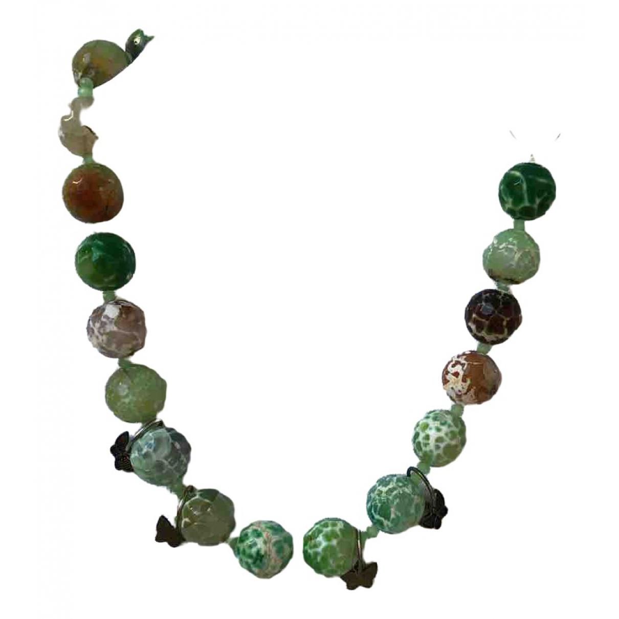 - Collier   pour femme en perles - vert