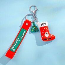 Maenner Schluesselbund mit Weihnachten Baum Anhaenger