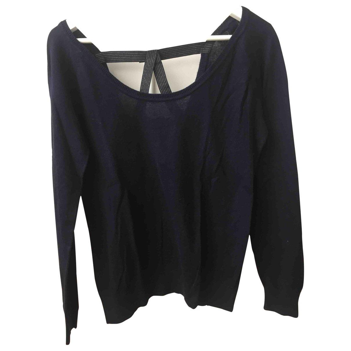 Sandro \N Navy Cotton Knitwear for Women 36 FR