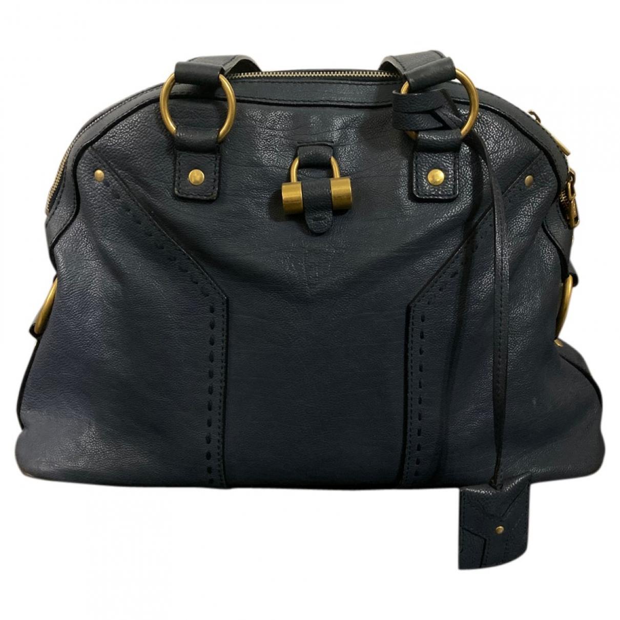 Yves Saint Laurent Muse Navy Leather handbag for Women \N