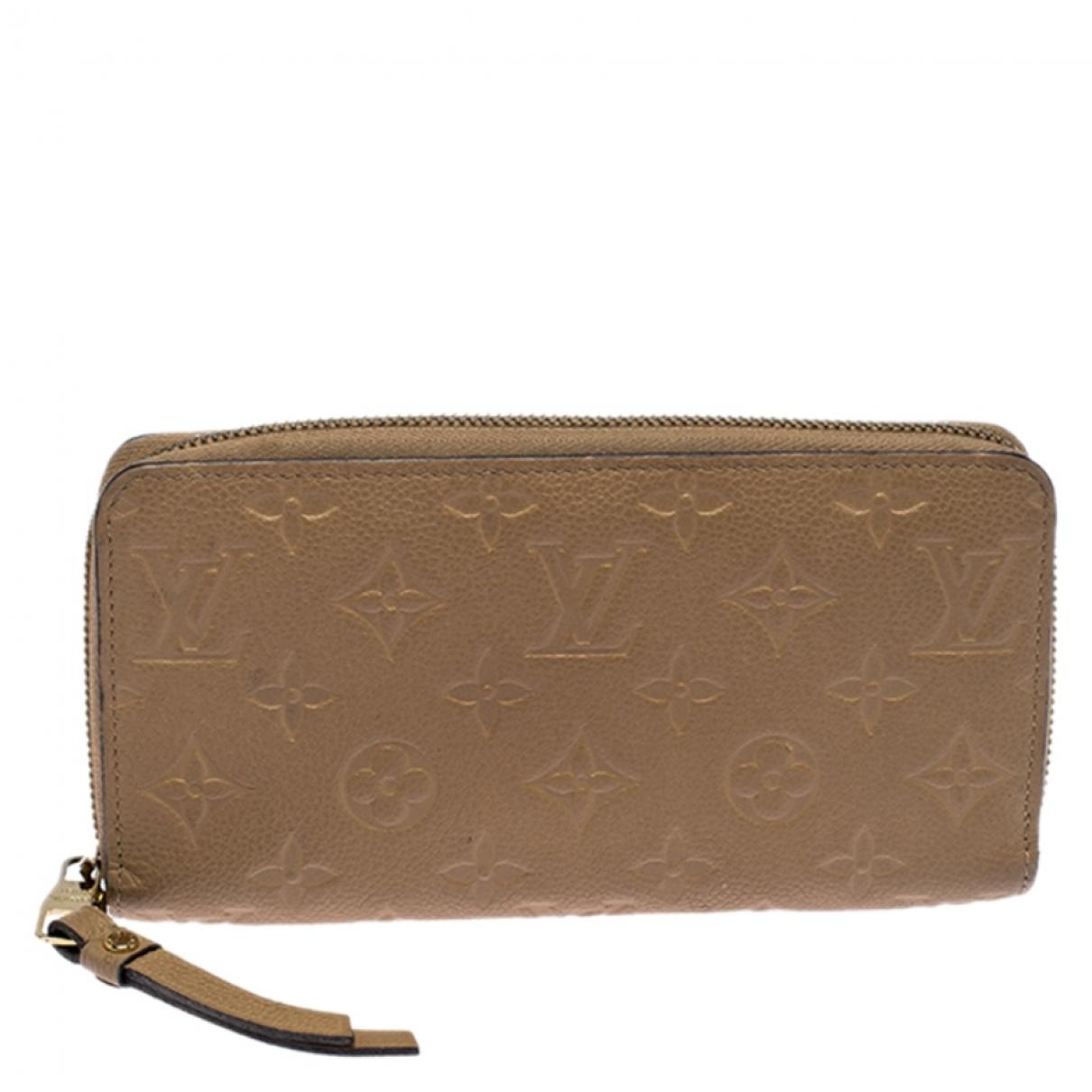 Louis Vuitton \N Beige Leather wallet for Women \N