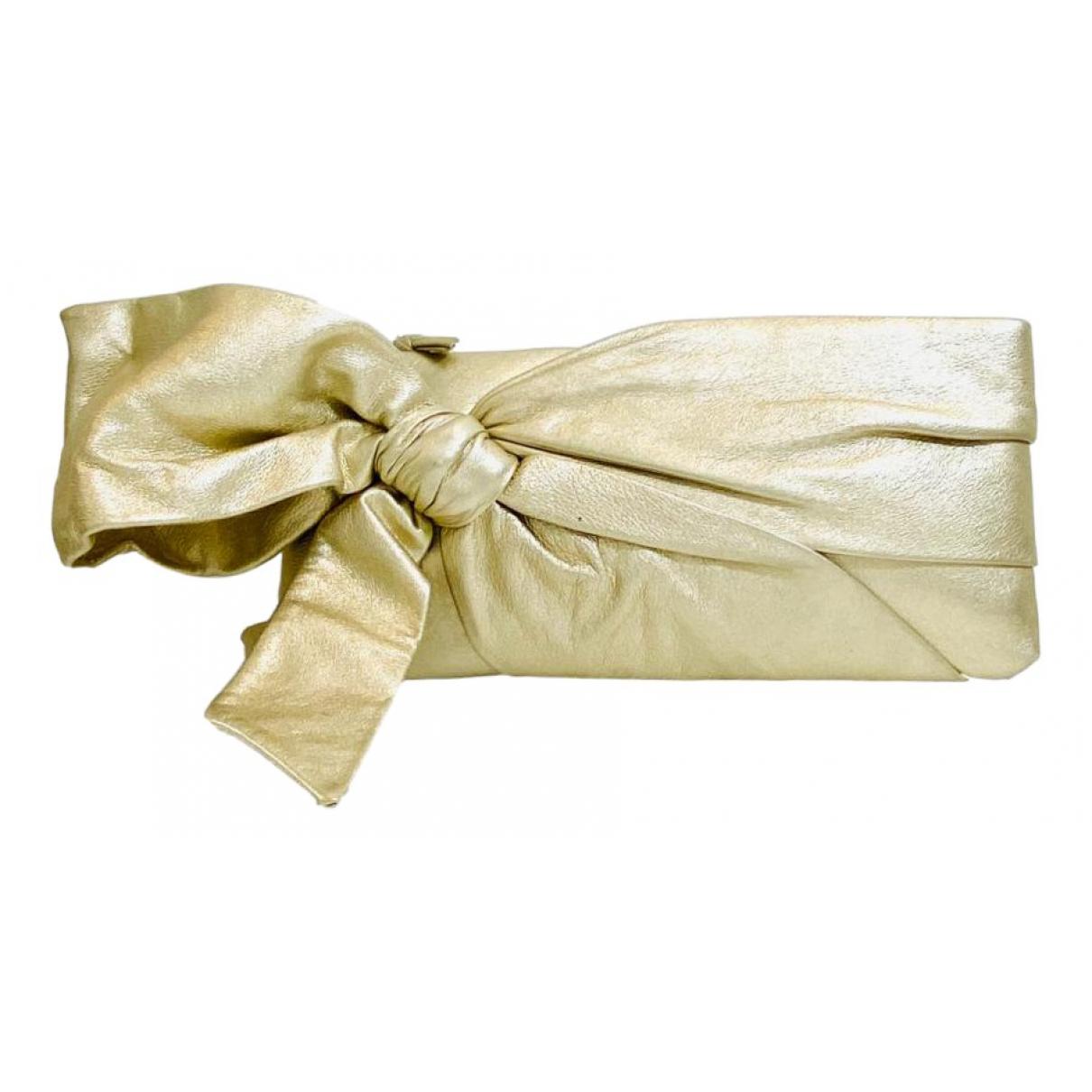 Red Valentino Garavani N Gold Leather Clutch bag for Women N