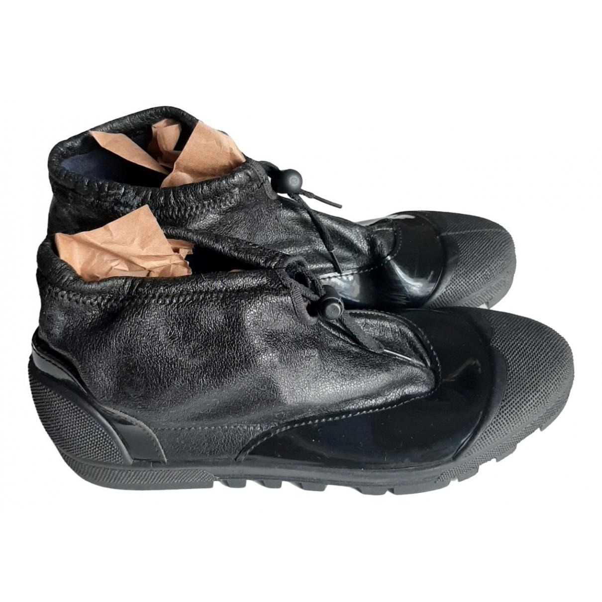 Issey Miyake \N Sneakers in  Schwarz Kautschuk