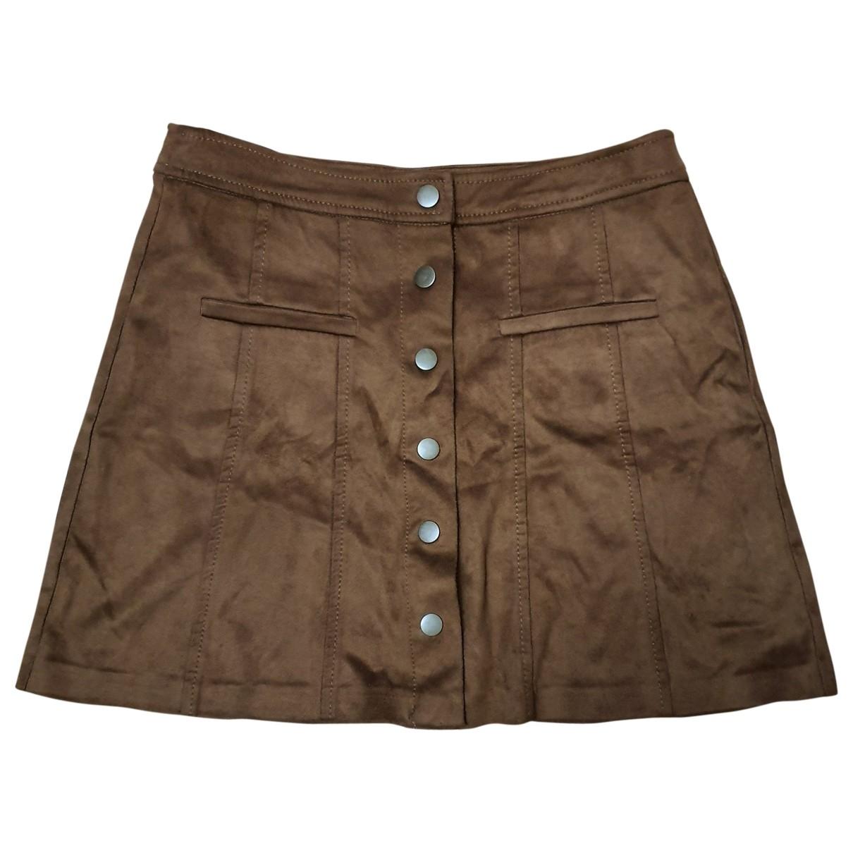 Zara - Jupe   pour femme - marron