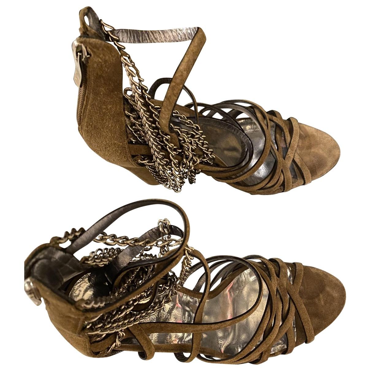 Barbara Bui \N Beige Leather Sandals for Women 38 EU