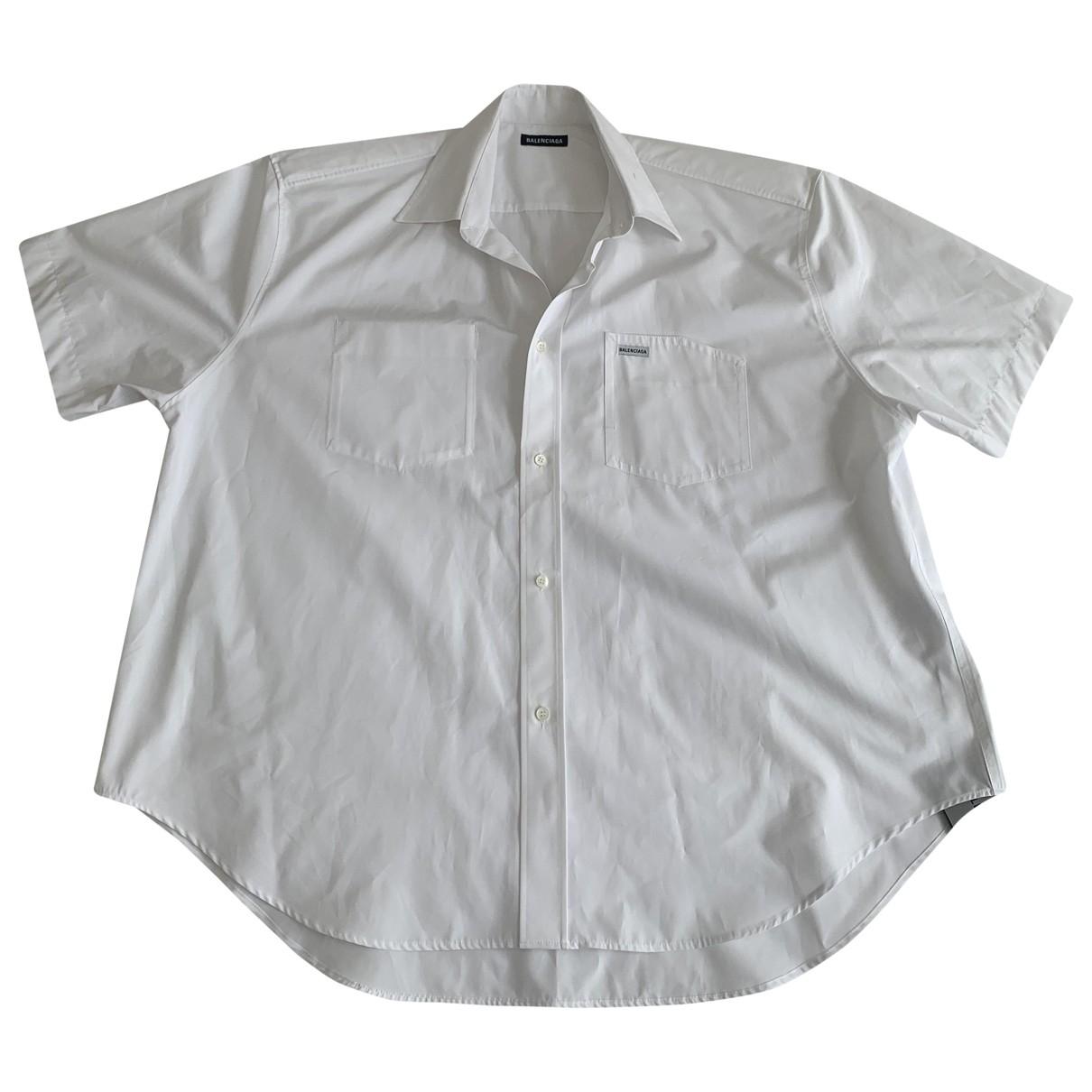 Balenciaga \N Hemden in  Weiss Baumwolle
