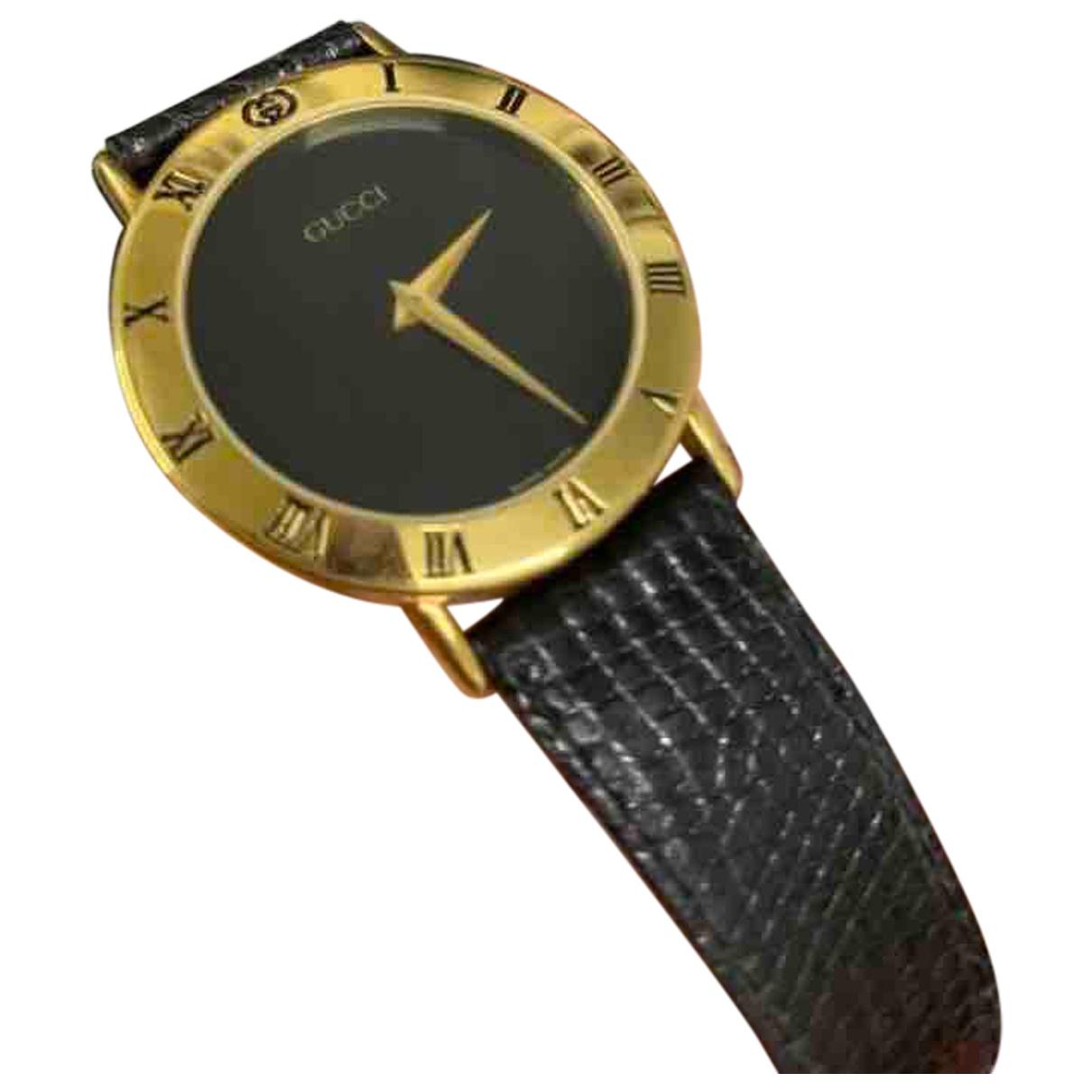 Gucci \N Uhr in  Schwarz Vergoldet