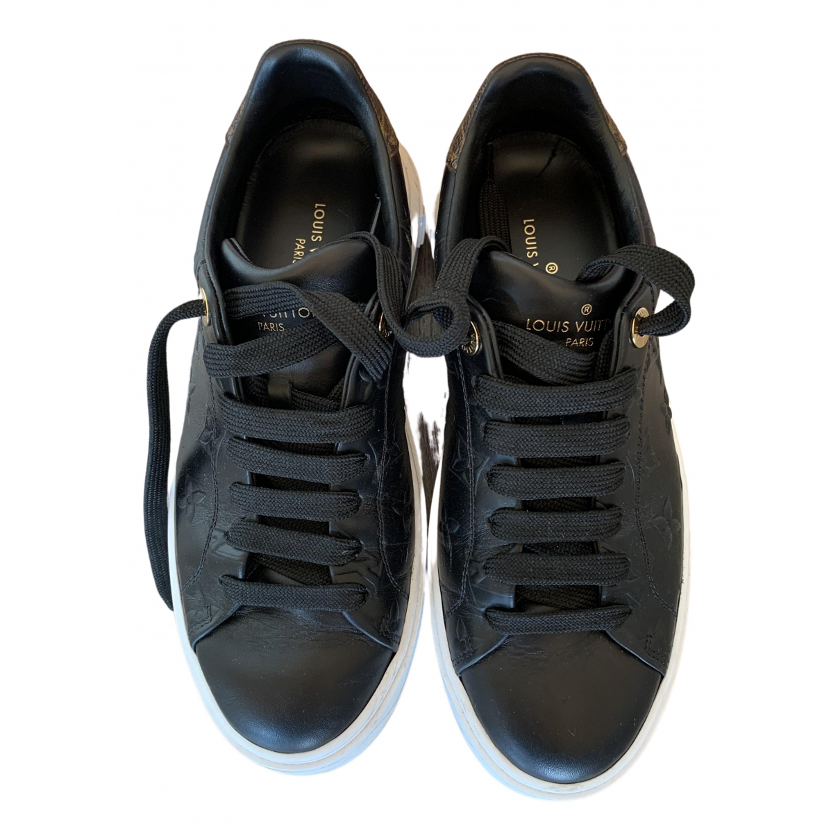 Louis Vuitton TimeOut Black Leather Trainers for Women 35.5 EU