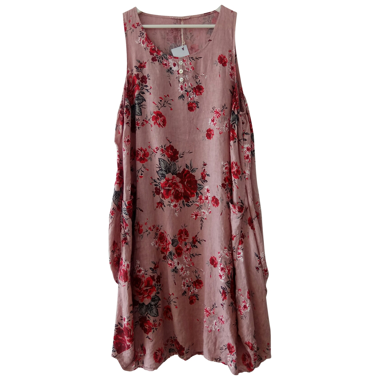 Non Signé / Unsigned \N Pink Linen dress for Women One Size FR