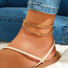 Long Chain Anklet 1pc