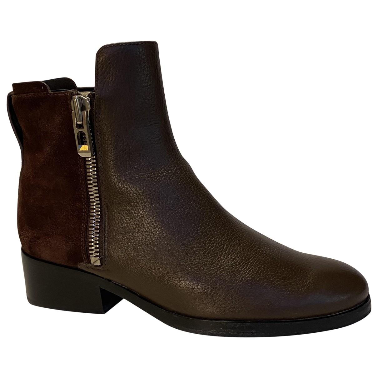 3.1 Phillip Lim - Boots   pour femme en cuir - marron