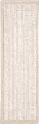 Siena SNA-2301 26 x 8 Runner Modern Rug in Light Gray