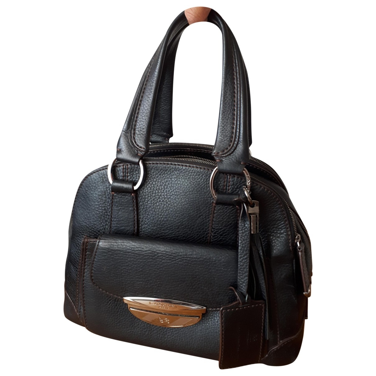 Lancel Adjani Black Leather handbag for Women \N
