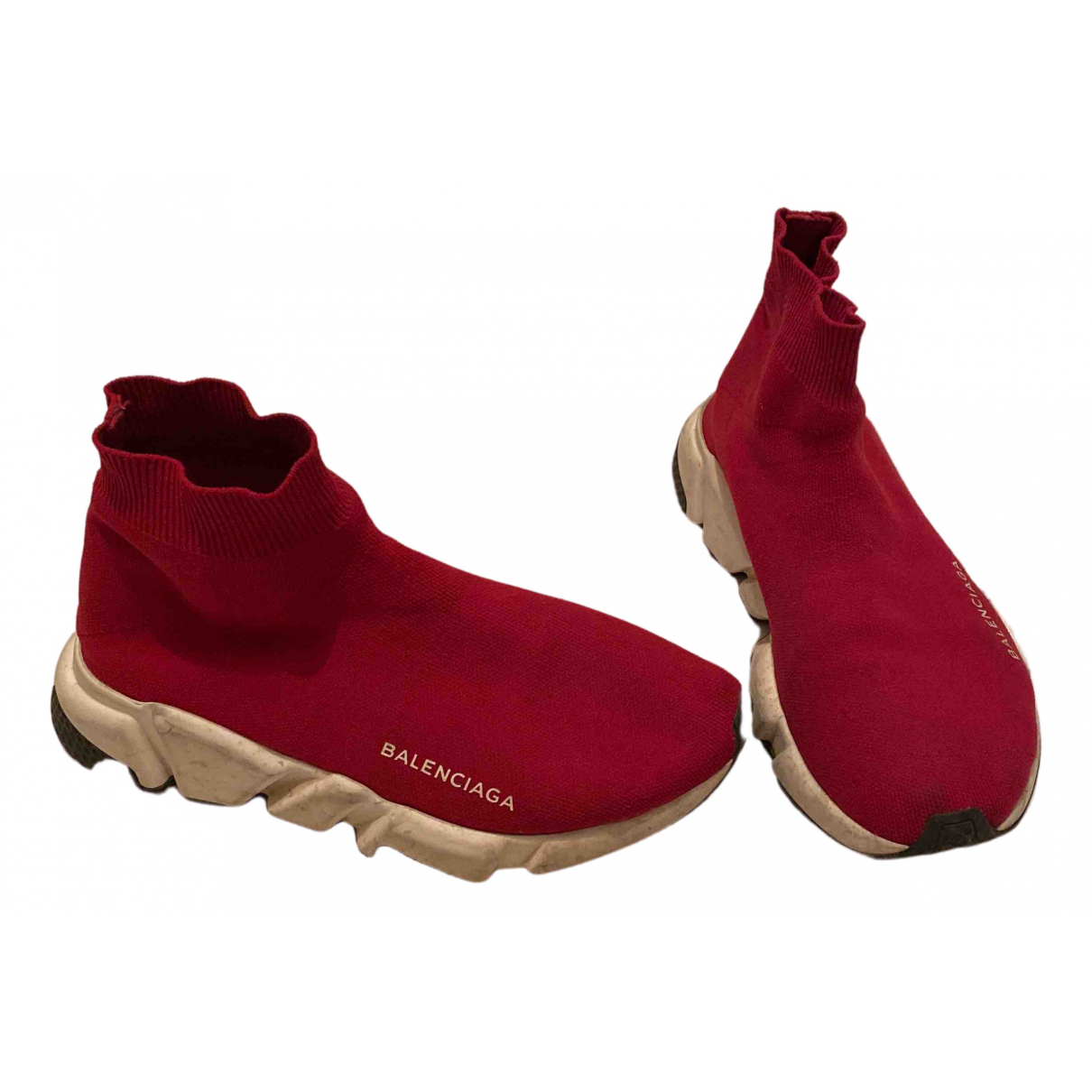 Balenciaga Speed Sneakers in  Bordeauxrot Polyester
