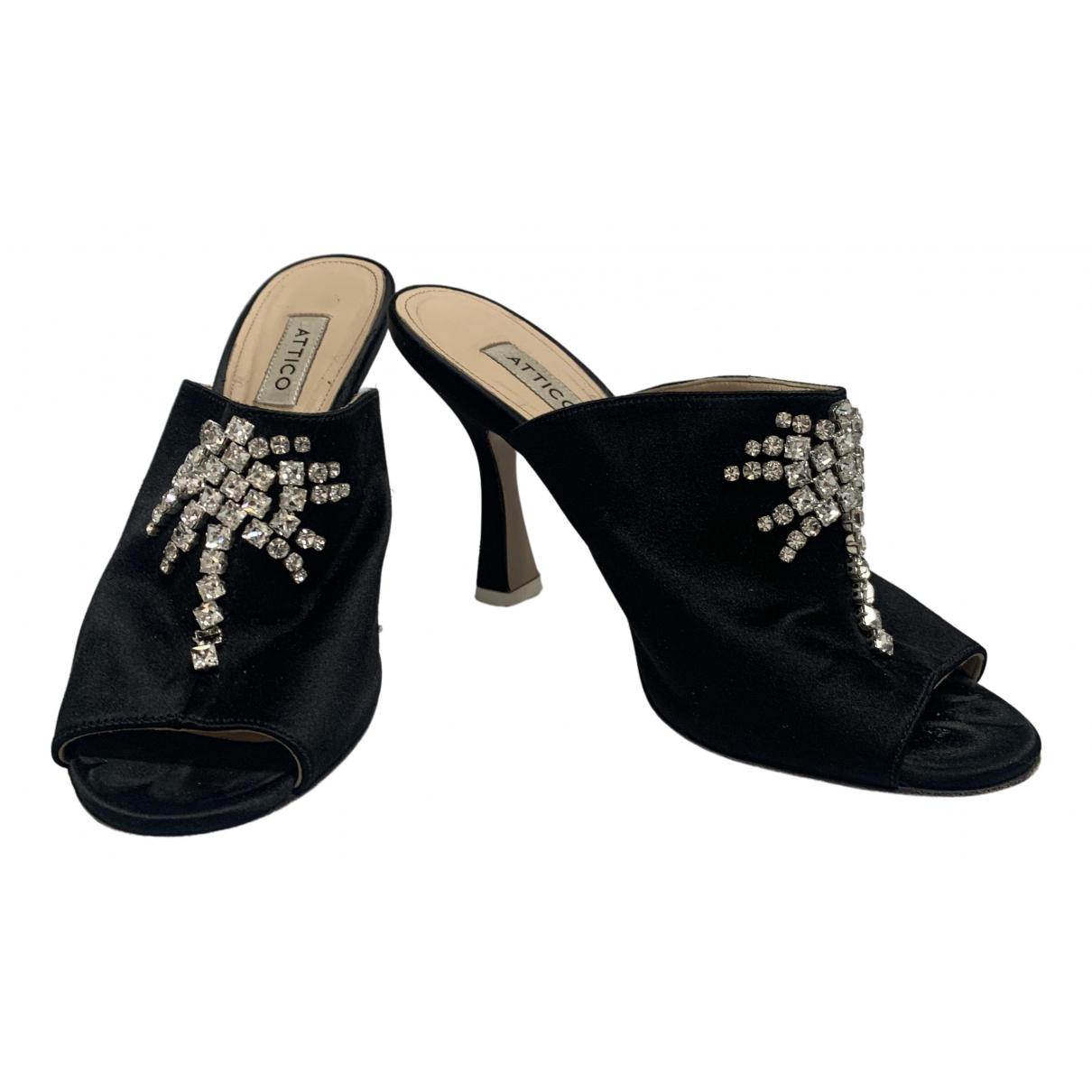 Attico \N Black Cloth Sandals for Women 40 IT