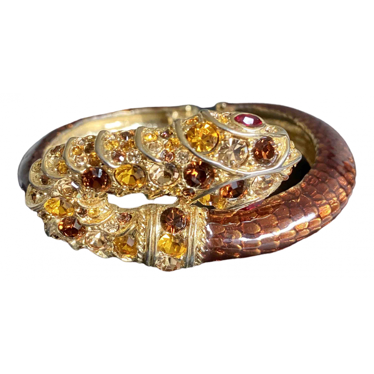 Kenneth Jay Lane - Bracelet   pour femme en cristal - dore