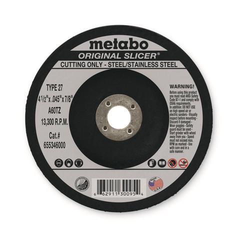 Metabo 4-1/2 In. x 0.045 In. x 7/8 In. Original Slicer Type 27, A60Tz