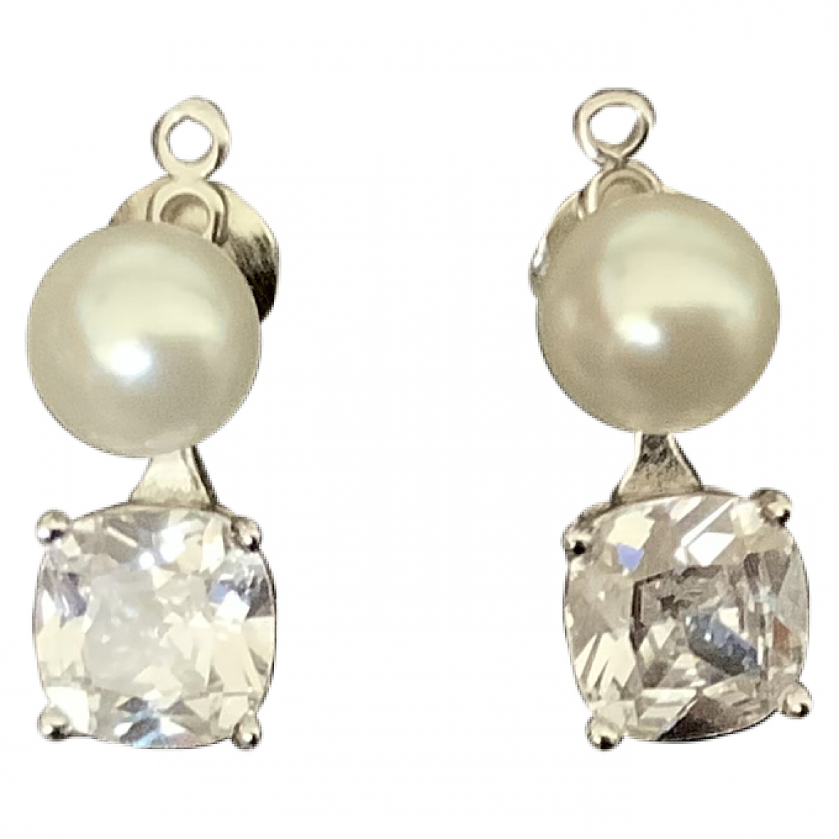 Non Signé / Unsigned \N Silver Pearl Earrings for Women \N