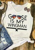 Goose Is My Wingman Star Tank - White