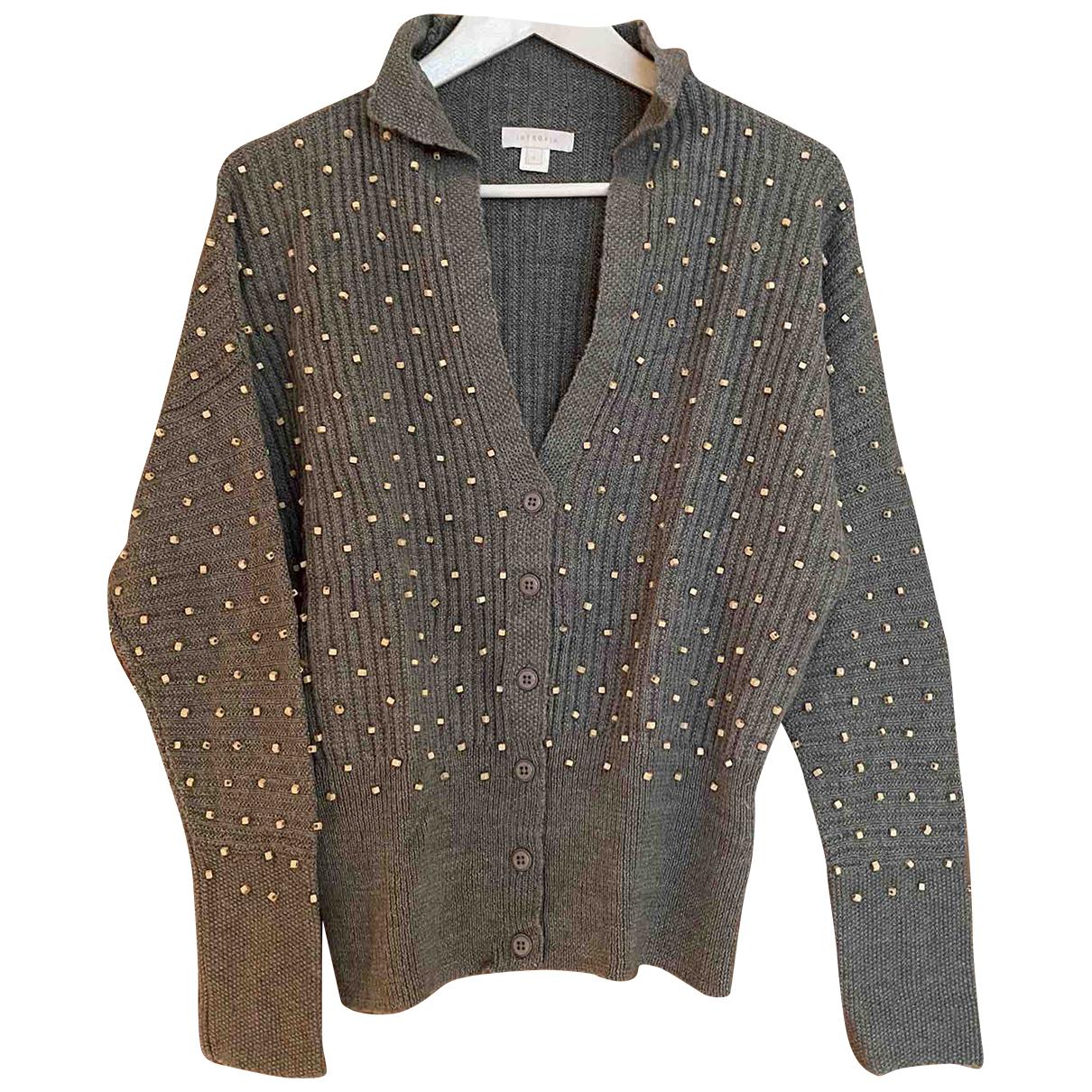 Hoss Intropia - Pull   pour femme en laine - gris