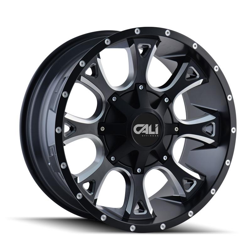 Cali Off-Road 9103-2952M18 Anarchy 9103 Satin Black | Milled Spokes 20x9 5x127 | 5x139.7 18mm 87mm Wheel