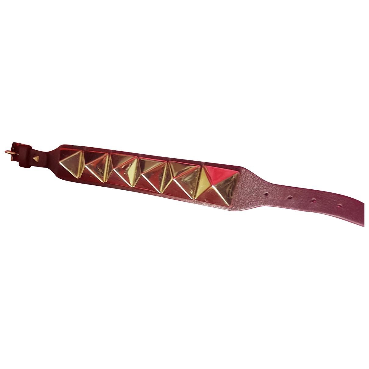Valentino Garavani \N Armband in  Bordeauxrot Leder