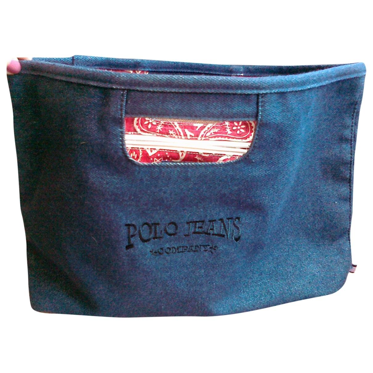 Polo Ralph Lauren \N Handtasche in  Blau Denim - Jeans