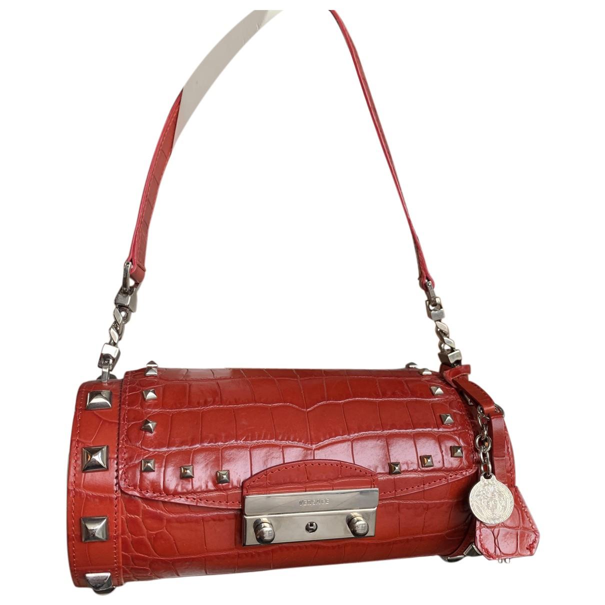 Gianni Versace \N Clutch in  Rot Leder